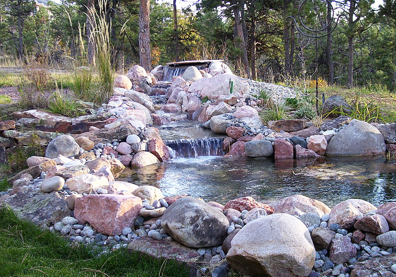 Pond ideas my own patio pond creation with pond ideas for Cheap backyard pond ideas