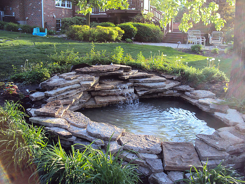 Inspiring backyard pond ideas quiet corner for Small pond house plans