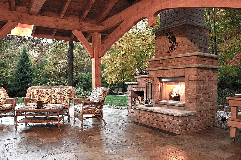 Inspiring outdoor fireplace ideas quiet corner for Outdoor patio fireplace ideas
