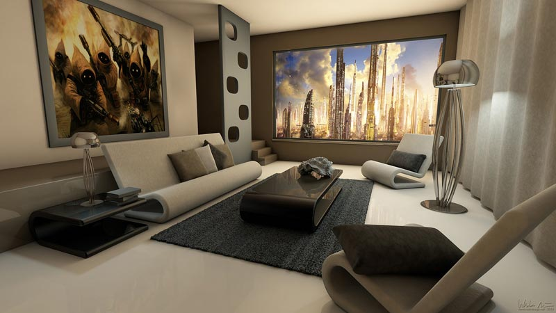 Living Room Photo Wallpapers and Wall Art (23)