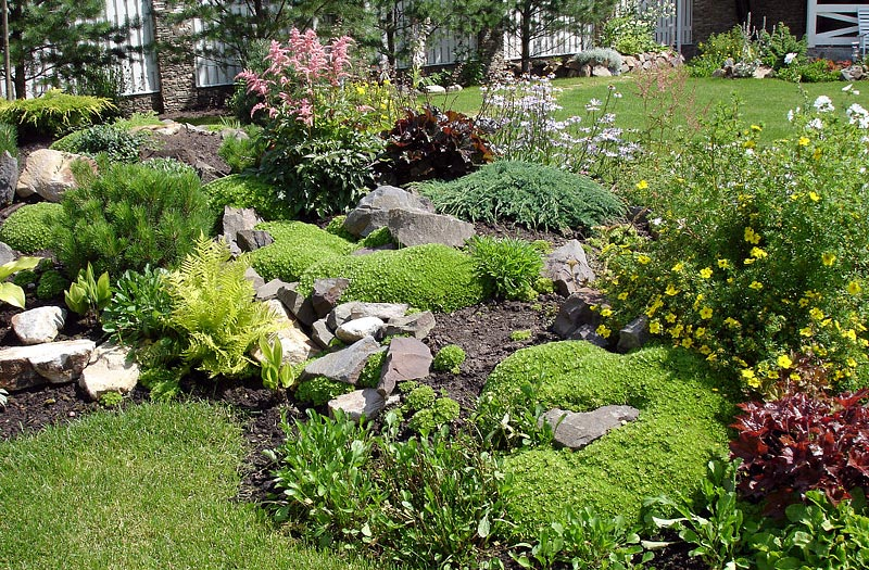 Stunning rock garden design ideas quiet corner for Rock landscaping ideas