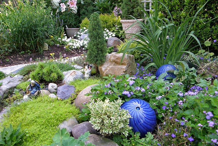 Corner Garden Design stunning rock garden design ideas - quiet corner