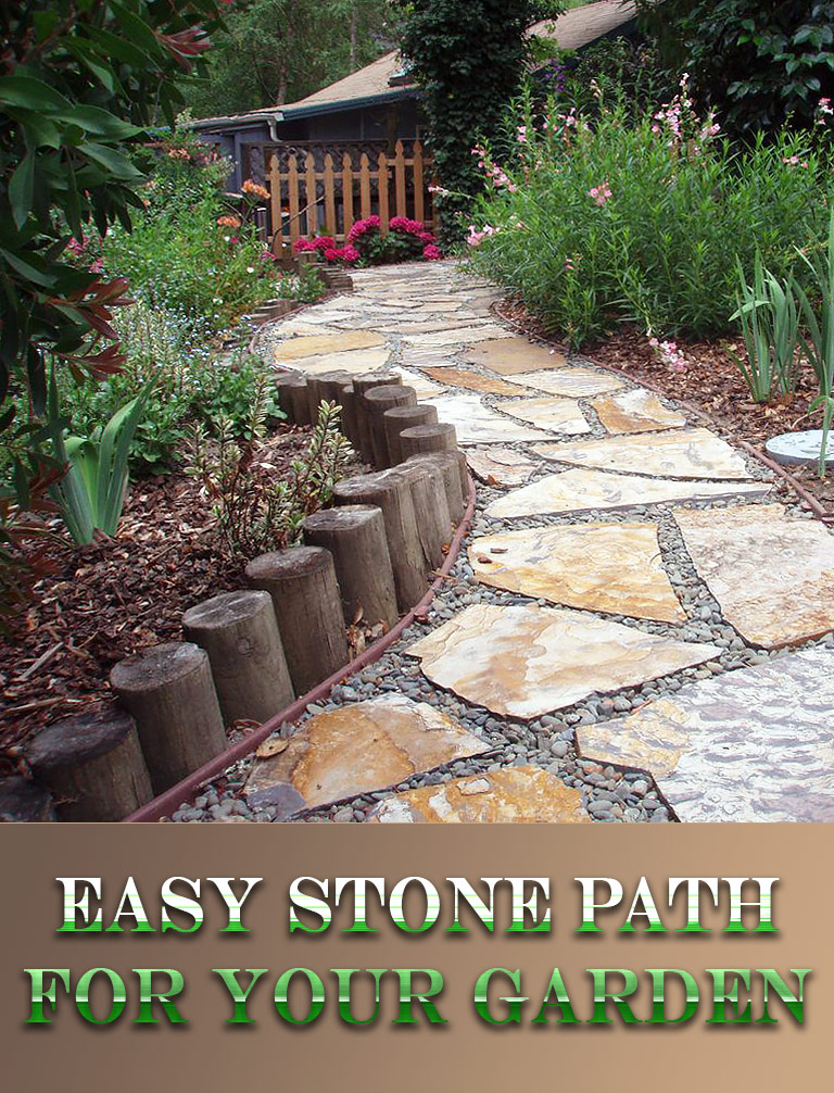 DIY - Easy Stone Path for Your Garden