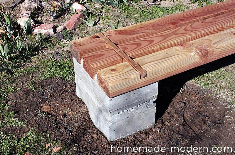 Quiet Corner Diy Outdoor Concrete Bench Quiet Corner