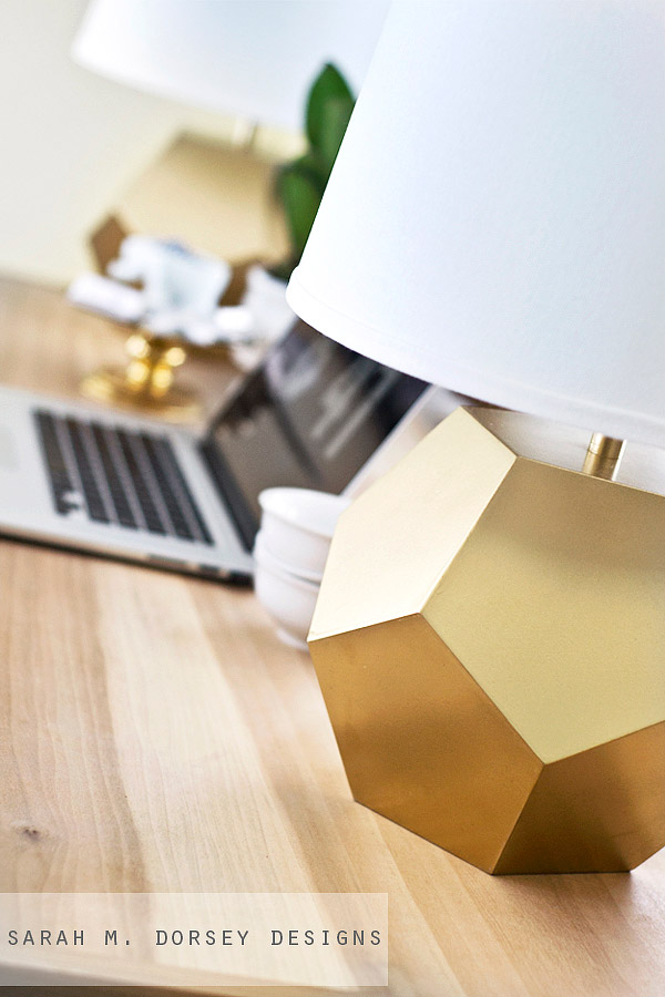 DIY - Gold Geometric Lamp