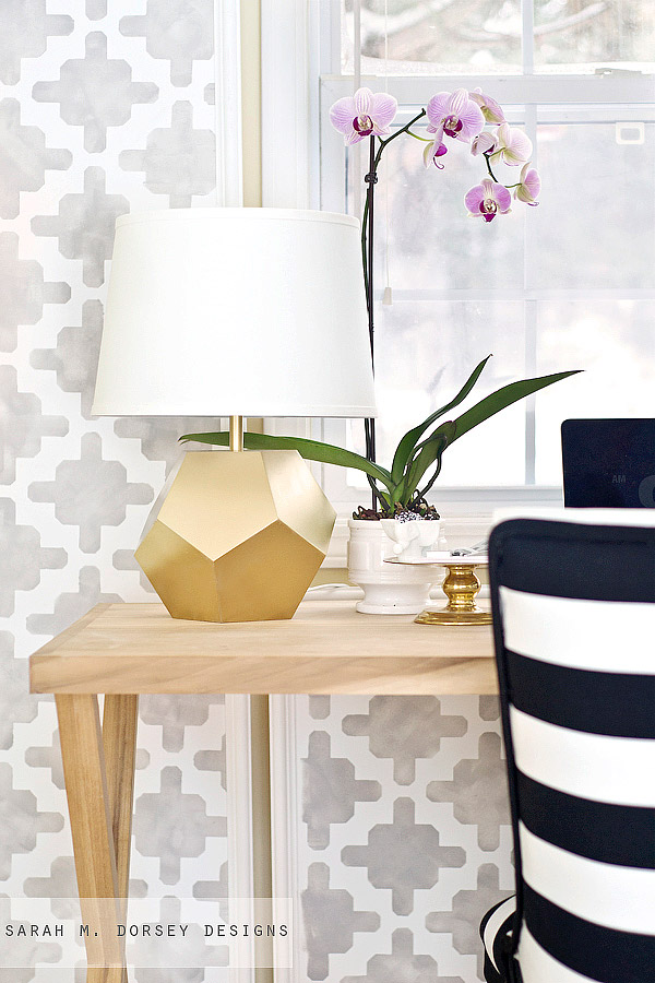 DIY - Gold Geometric Lamp
