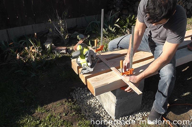 DIY Outdoor Concrete Bench