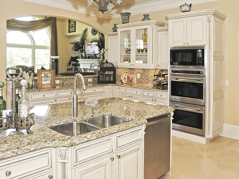 Quiet Corner Kitchen Ideas Antique White Cabinets