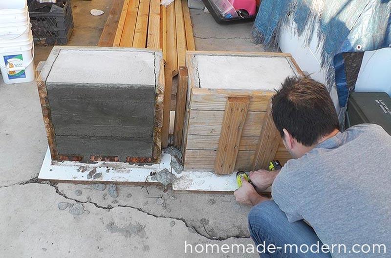 Cement Bench Molds : Diy outdoor concrete bench quiet corner