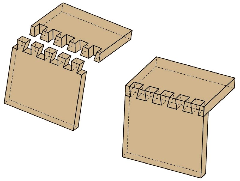 Wood Joinery - Through Dovetails