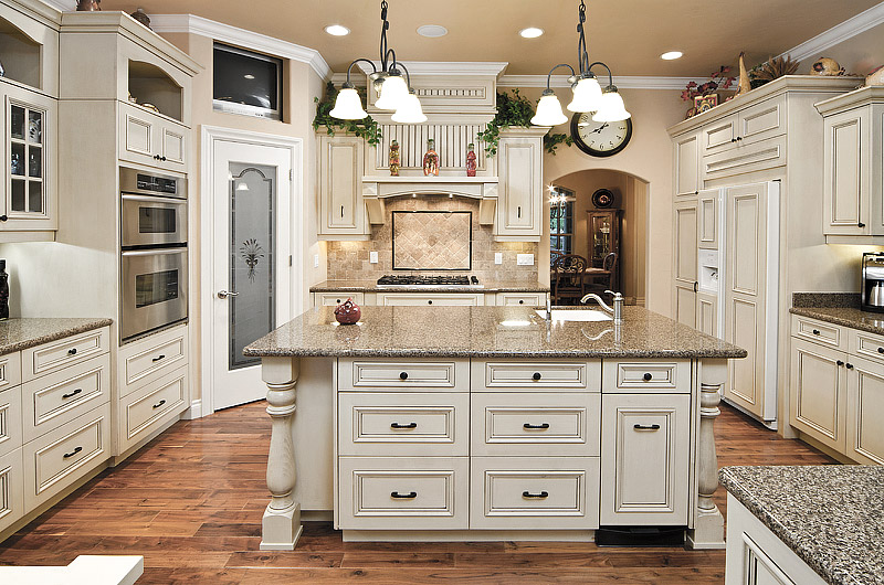 Kitchen Ideas - Antique White Kitchen Cabinets