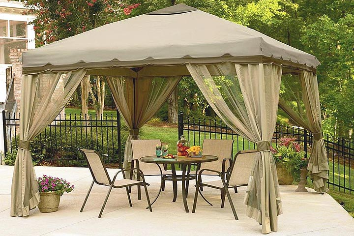 Attractive Even If You Keep A Traditional Shape To Your Pergola Or Gazebo, You Can  Update The Appearance To Reflect Your Personality. Keep The Raw Wood Look,  ...