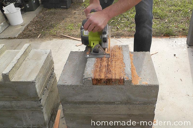 Diy Outdoor Concrete Bench Quiet Corner
