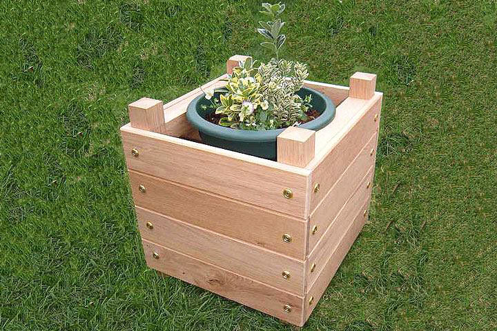 DIY – Simple Chunky Wooden Planter