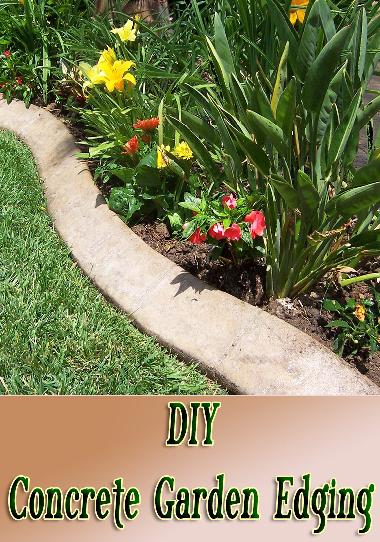 DIY – Concrete Garden Edging