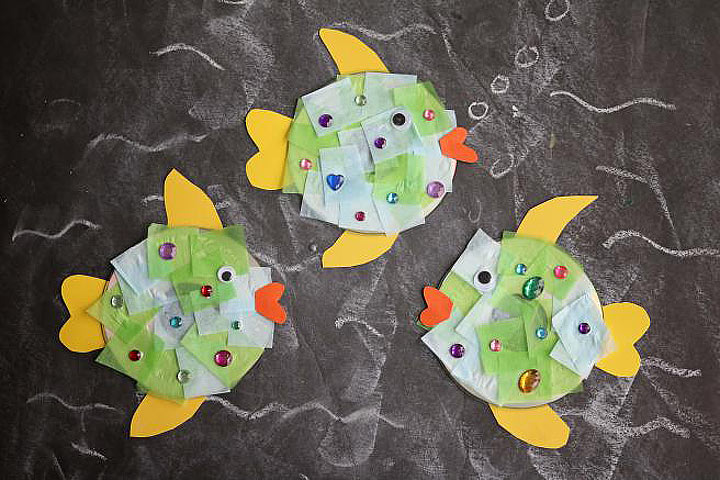 DIY: Recycled CD Fish Kid Craft