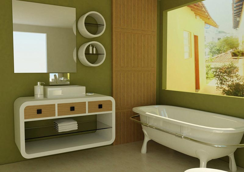 Classy Modern Bathroom Decorating Ideas - Quiet Corner