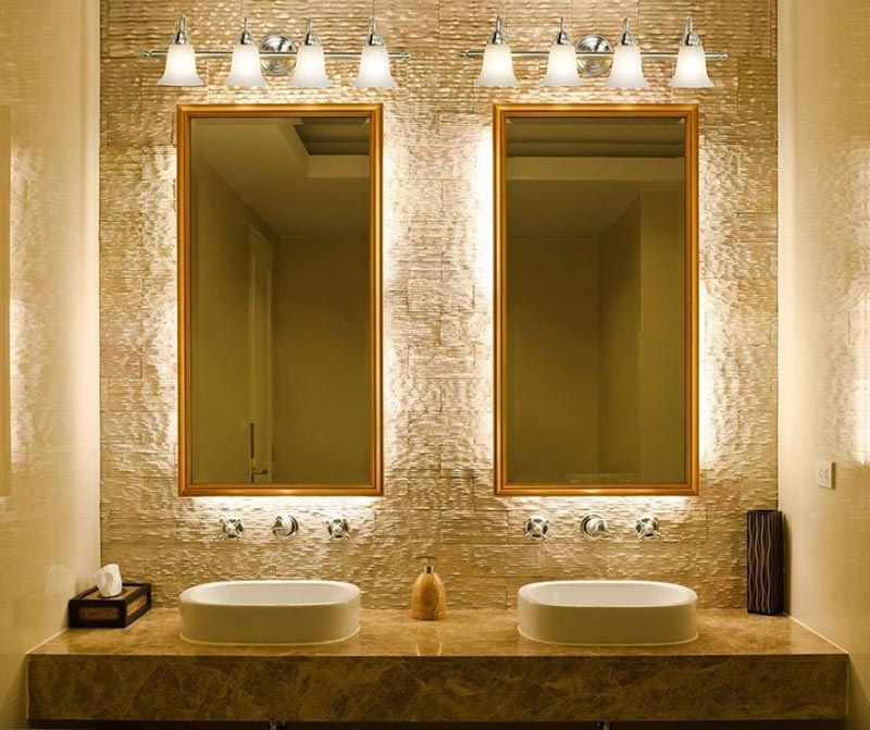 Bathroom light fixtures tips quiet corner - Bathroom vanity mirror side lights ...