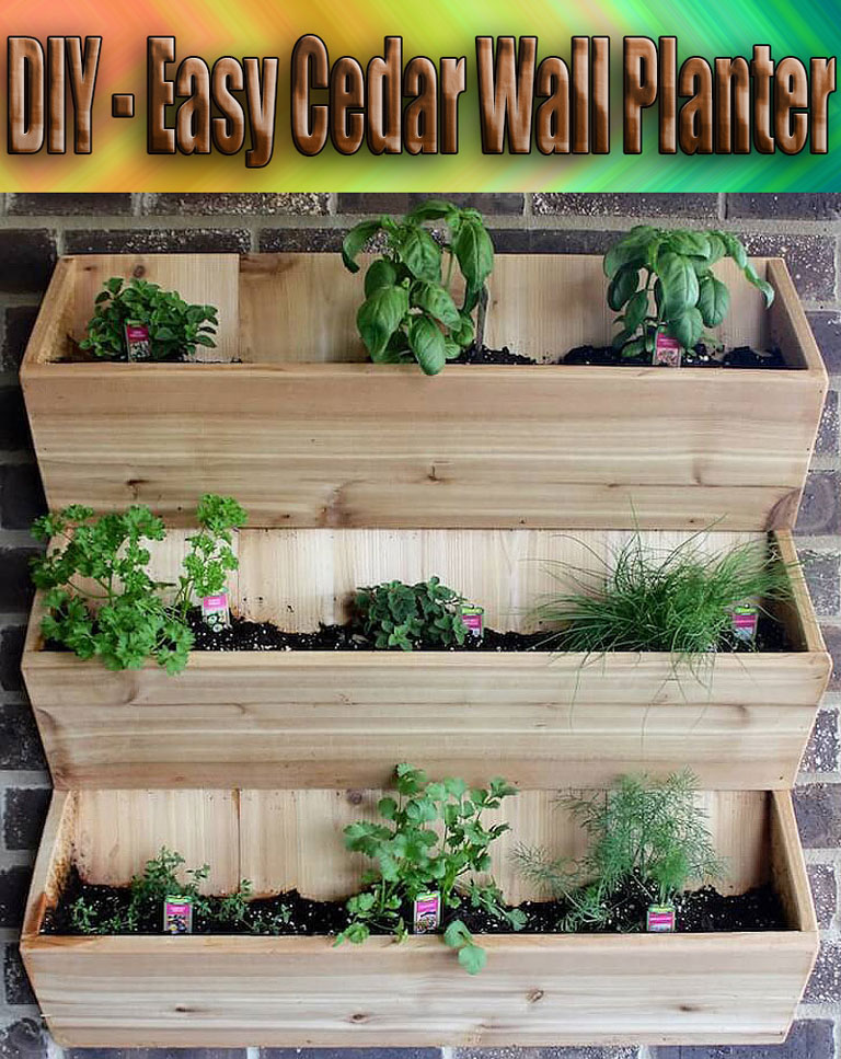 DIY – Easy Cedar Wall Planter