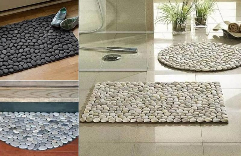 DIY River Stone Doormat