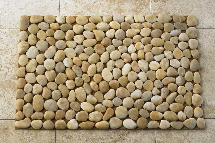 diy river stone doormat quiet corner