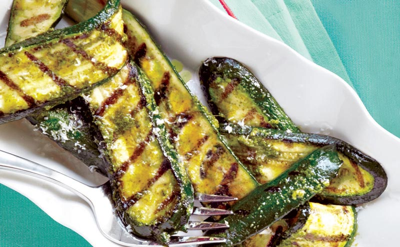 Grilled Zucchini with Lemon and Olive Oil