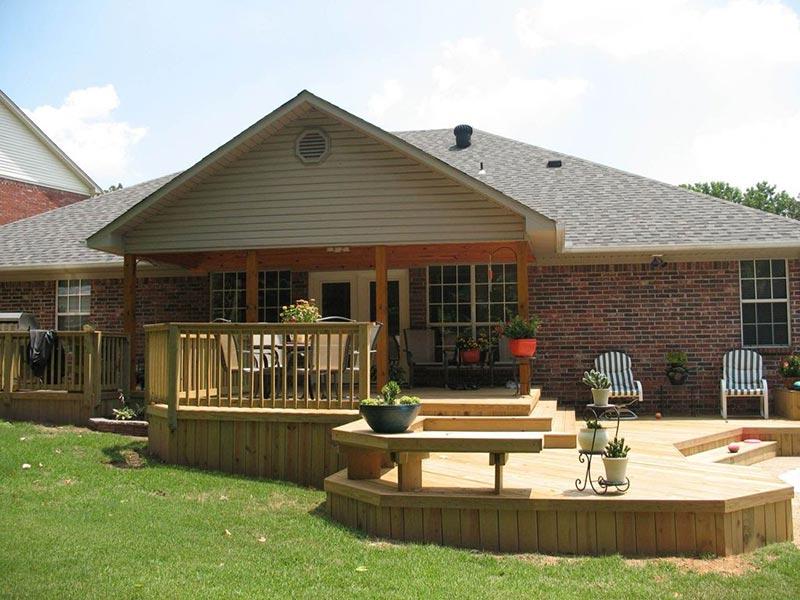 Ideas and Tips for Custom Front Yard and Backyard Decks ... on Custom Backyards id=31837