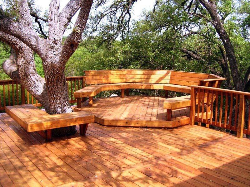 Ideas and Tips for Custom Front Yard and Backyard Decks ... on Custom Backyards id=98212