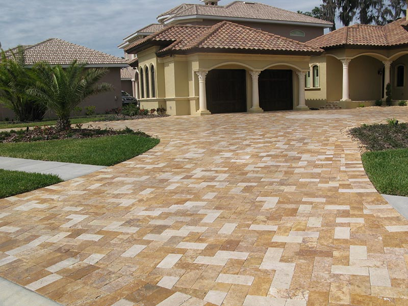 Ideas and tips for driveway design quiet corner Simple paving ideas