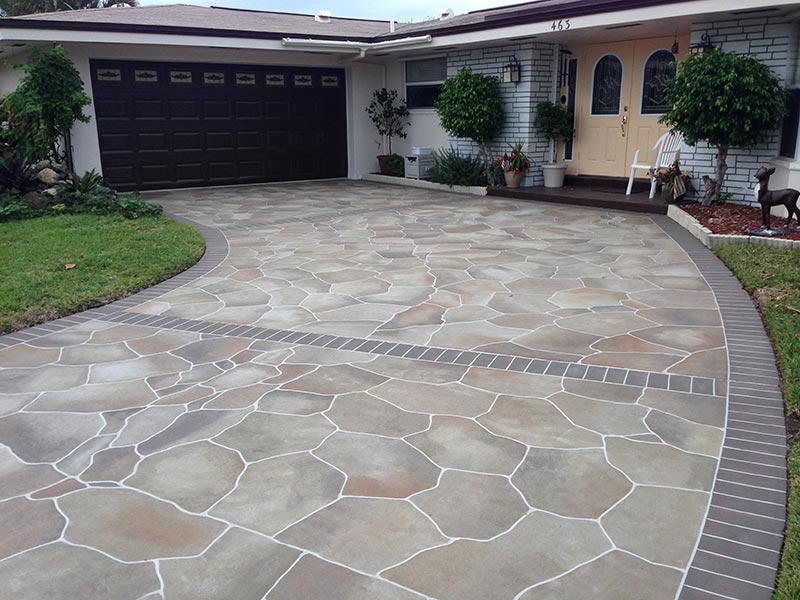 Ideas and tips for driveway design quiet corner for Cement driveway ideas