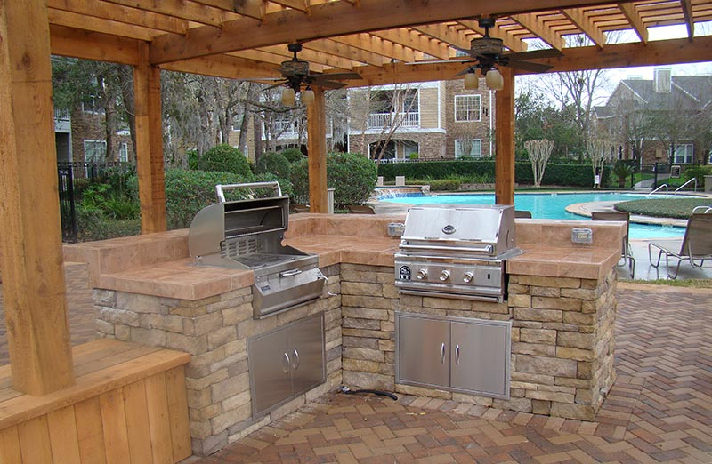 Outdoor kitchen design quiet corner for Outdoor grill cabinet design