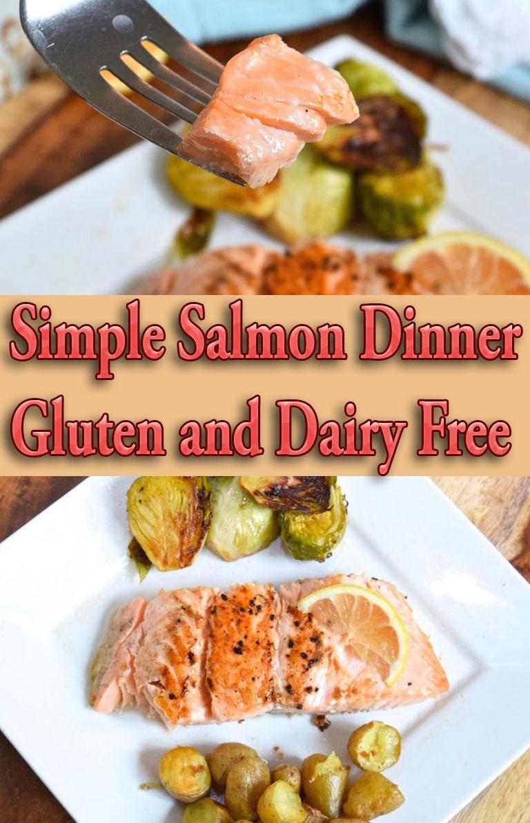 Simple Salmon Dinner Gluten and Dairy Free - Quiet Corner