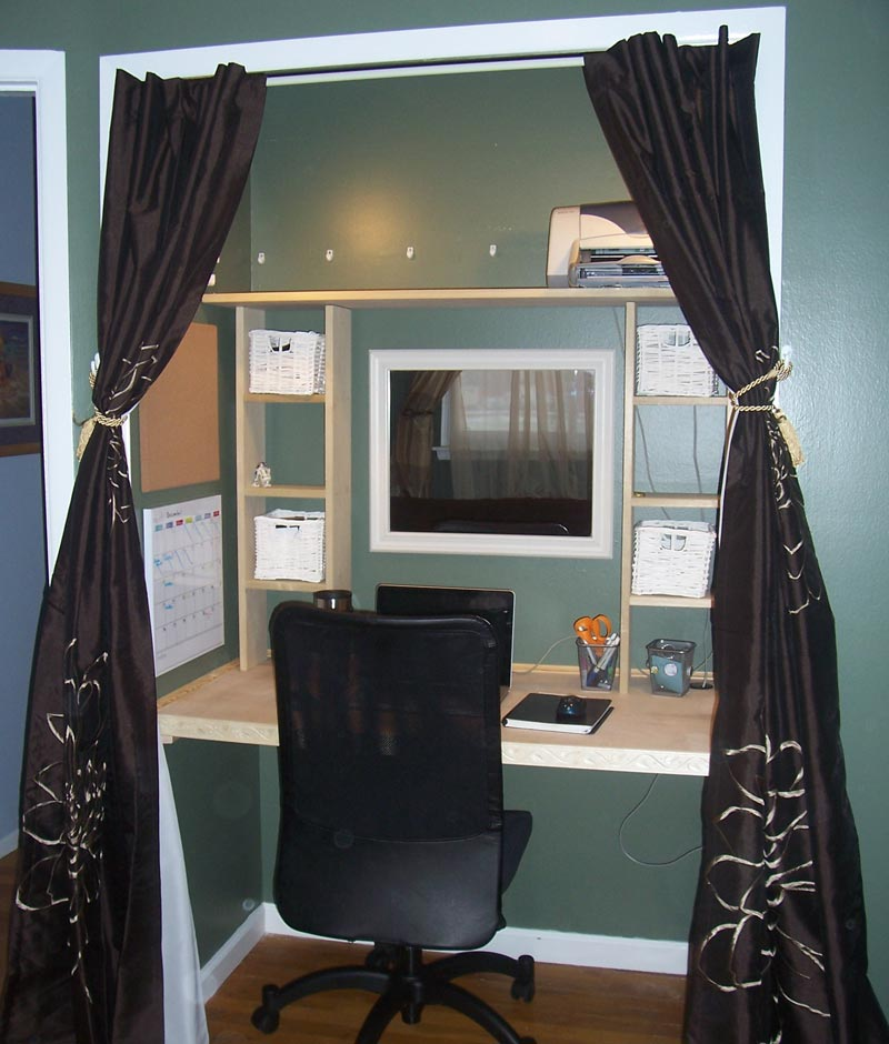 turn closet into office. turn your closet into a home office