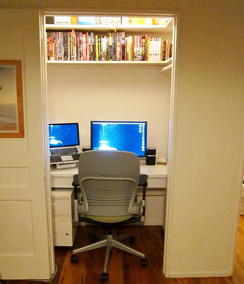 Pleasant Turn Your Closet Into A Home Office Quiet Corner Largest Home Design Picture Inspirations Pitcheantrous