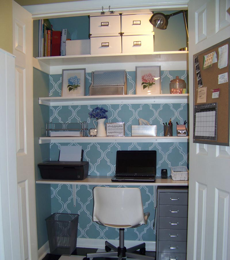 Brilliant Turn Your Closet Into A Home Office Quiet Corner Largest Home Design Picture Inspirations Pitcheantrous