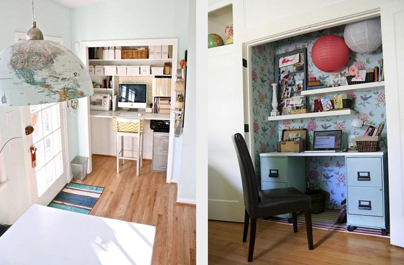 Closet home office Iheart Organizing Turn Your Closet Into Home Office Quiet Corner Quiet Cornerturn Your Closet Into Home Office Quiet Corner