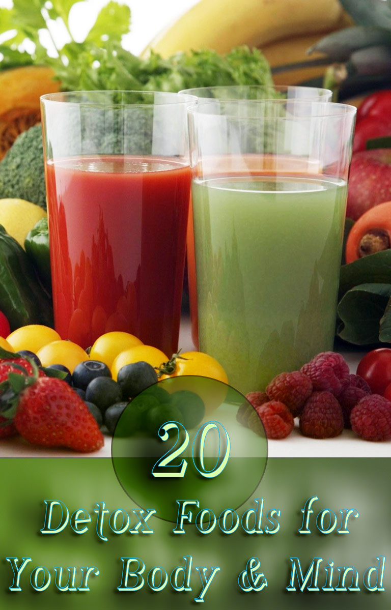20 Detox Foods for Your Body & Mind. You'll notice that with many of these detox foods the road to purification goes through the liver, and getting it to full capacity can have several long-lasting benefits throughout the body... #detox #food