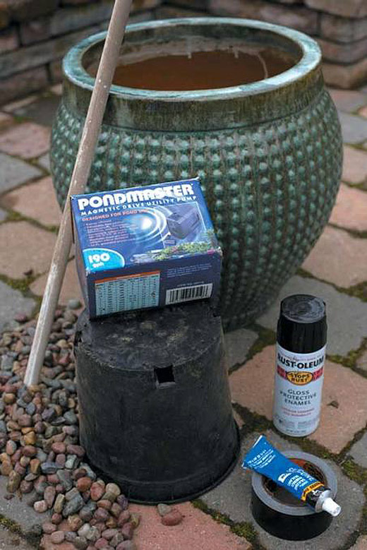 DIY - Fountain in a Pot