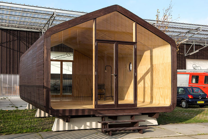 Wikkelhouse - Modular Microhome Made of Cardboard