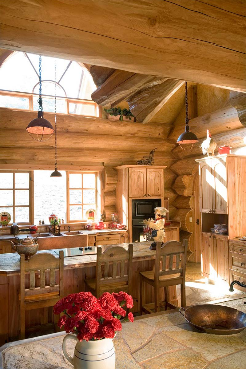 California dreaming luxury log home quiet corner for Luxury timber homes