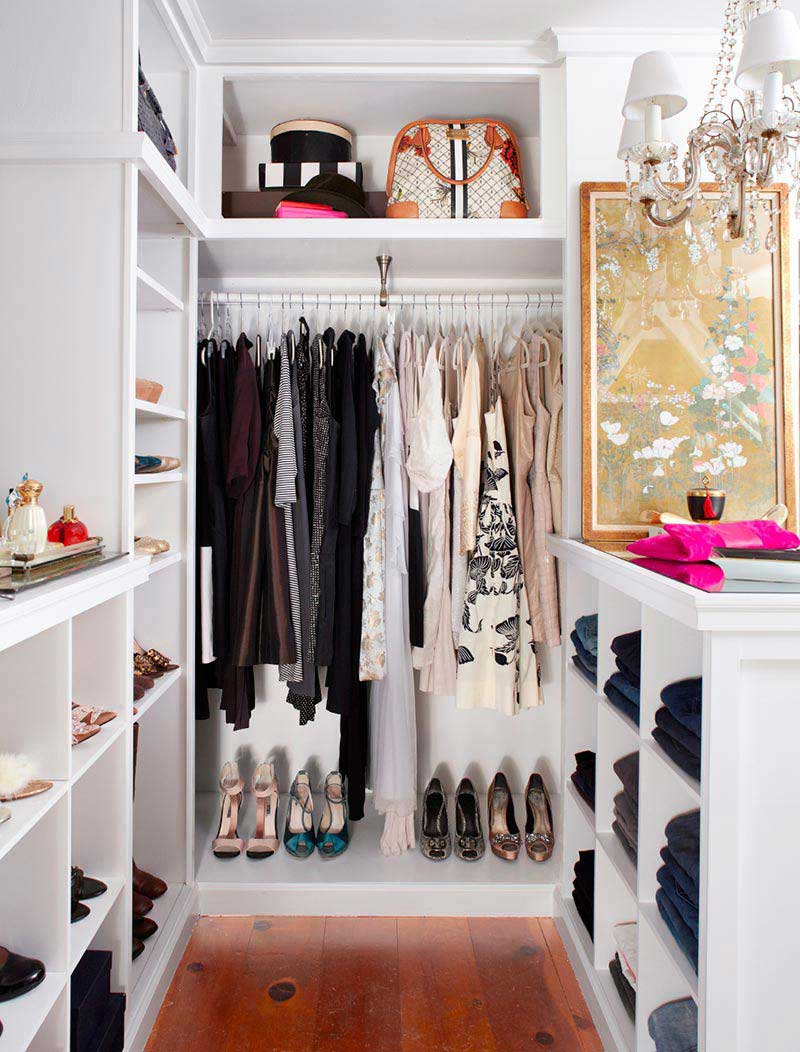 Cute Small Closet Ideas - Quiet Corner