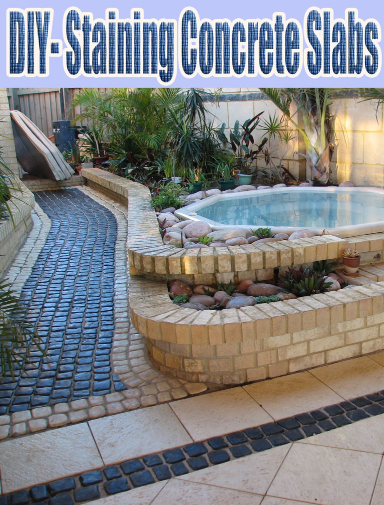 DIY- Staining Concrete Slabs