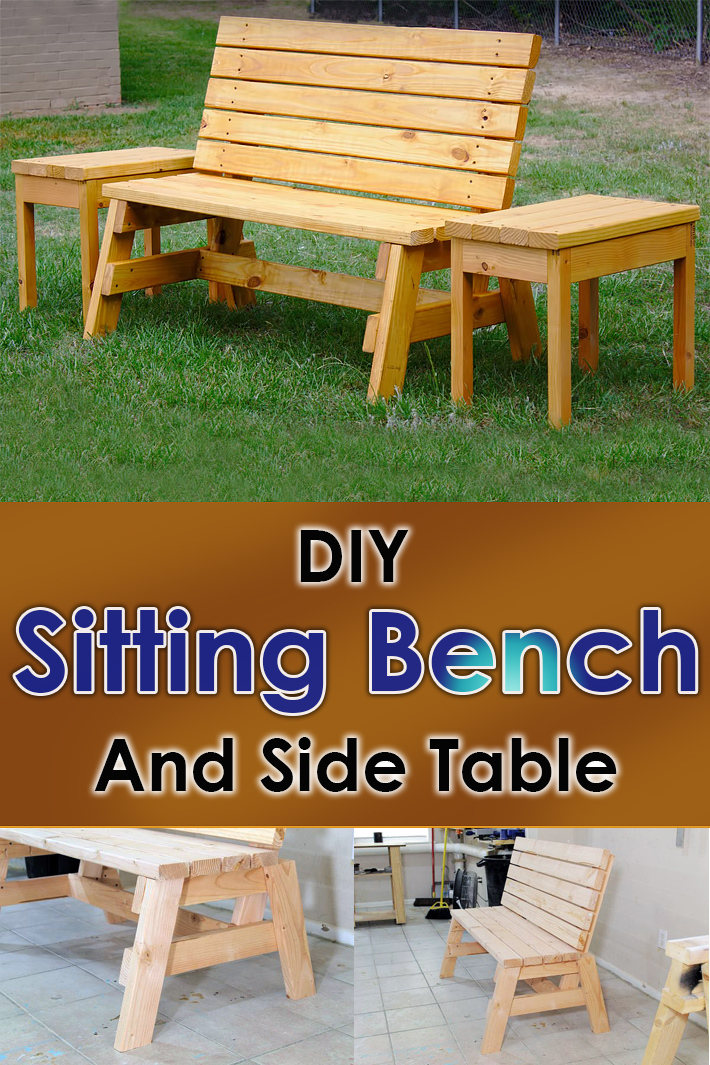 DIY - Sturdy 2×4 Sitting Bench And Side Table - Quiet Corner