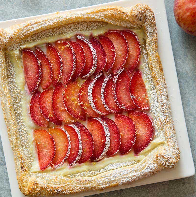 Easy Stone Fruit Tart