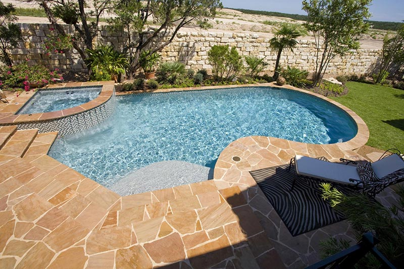 Free Form Pool Designs Ideas Quiet Corner