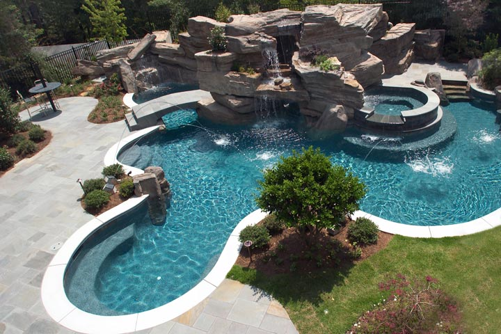 Quiet corner free form pool designs ideas quiet corner for 16x32 pool design