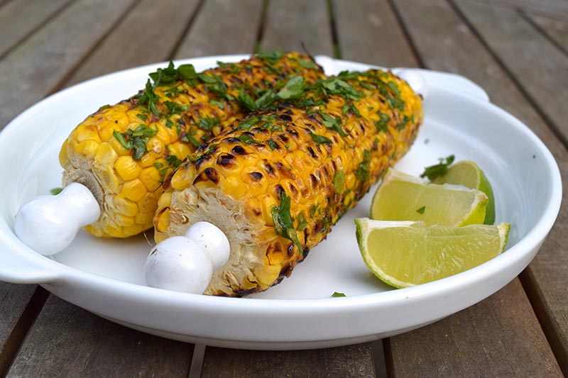 Grilled Corn On The Cob With Chile And Lime Recipe — Dishmaps