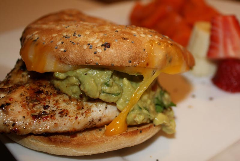 Guacamole Grilled Chicken Club