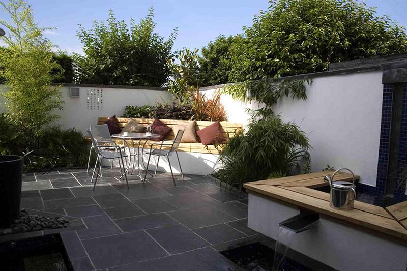 Landscape Design Ideas with Modern Seating Area
