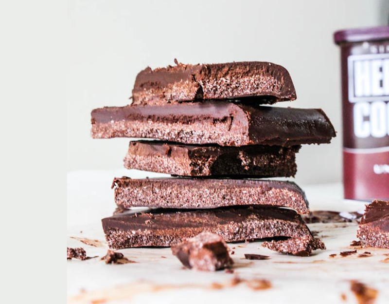 No Bake Vegan Chocolate Bars